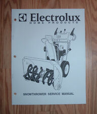 ELECTROLUX SNOW BLOWER SERVICE MANUAL WITH ILLUSTRATED PARTS LIST