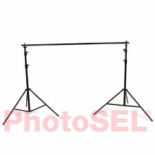PhotoSEL BS214 Background Support System Backdrop Stand 2.7m(H)x 3, 2.3, 1.5m(W)