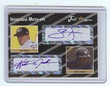 JOEY DEVINE - AUSTIN JACKSON 2005 Certified Dual Autograph RC 1/2