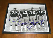 STEELERS STEEL CURTAIN SIGNED FRAMED 11X14 PRINT