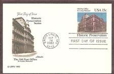 US SC # UX97 Old Post Office St Louis , Missouri FDC. Artmaster Cachet