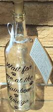 Light Up Bottle Pet Memorial Loss Rainbow 🌈 Bridge Lovely Verse On The Gift Tag