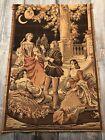 Vintage Victorian Tapestry Made In Belgium Outdoor Scene 39x26