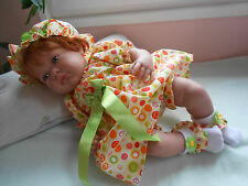 ens neuf robe  4 pièces poupée reborn, tinnie,baigneur,antonio juan 40/45 cm