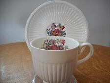 Wedgwood Borrowdale Edme creamware demitasse cup and saucer - EXCELLENT
