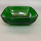 Fire King Anchor Hocking Charm Vegetable Serving Bowl Forest Green Glass