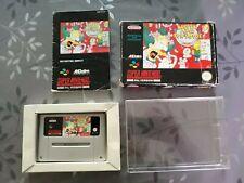Krusty's Super Fun House Super Nintendo cart manual tray box 0.5mm box protector