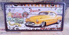 DRIVE IN LIQUOR STORE CAR PLATE Retro Tin Metal Signs Bar pub home Tavern Decor