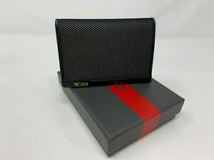 TUMI Alpha Reflective  Multi Window Card Case Black Reflective $70 NWT Gift Box
