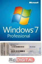 Windows 7 Pro Professional 32 64 Bit licenza DVD Product Key sticker FQC-00730