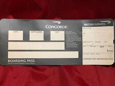 British Airways Concorde SST Blank Boarding Pass