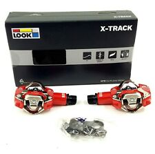 Look X-Track Mountain Bike Pedals and Cleat System, Shimano SPD Compatible, Red