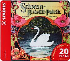 Schwan Premium-Filzstift STABILO ® Pen 68 20er Metalletui Schwan 20 Fasermaler