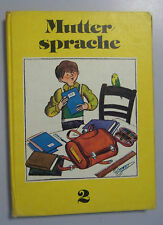 Muttersprache 2. Klasse / 6. Auflage 1983,DDR-Lehrbuch/Buch nach DDR-Fibel/RAR