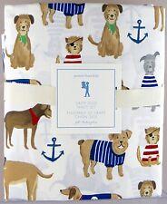 Pottery Barn Kids・Salty Dog Full Sheet Set・Puppies Beach Madras NWT