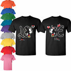 Couple matching t shirts Disney Mickey Minnie Love cute tee Husband and Wife