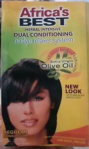 Africa's Best No Lye Herbal Intensive Dual Conditioning Relaxer System - Regular