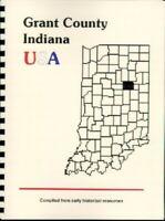 Grant County Indiana 1937 Illustrated history + WPA excerpt Marion IN Jonesboro