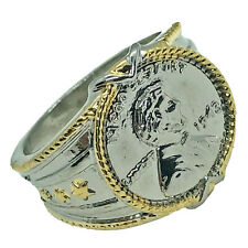 1943 Steel Cent Style Ring - Modern With Vintage Accents - USA WWII Collectible
