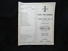 Boston and Maine Railroad Time Table October 25, 1964 Time Table #8