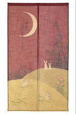 JAPANESE Noren Curtain Moon RABBIT USAGI 14-253  NEW