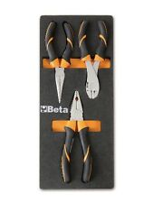 Beta Tools M131 3 Piece Pliers Set Long Nose/Cutting/Combination Pliers + Tray