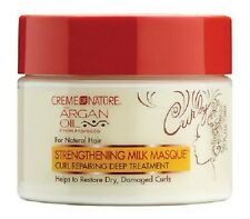 CREME OF NATURE ARGAN OIL STRENGTHENING MILK MASQUE - 326G/11.5OZ