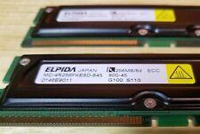 KVR800X16//256   512MB =256  RAMBUS  RIMM  800-45  NON-ECC