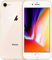 Apple iPhone 8 Unlocked 64GB Gold - AT&T T-Mobile Verizon GSM Unlocked