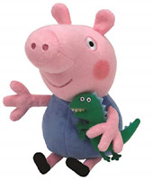 Ty Beanie George Peppa Pig Dinosaur Toy 6 Ich TV Character Soft Plush Preschool