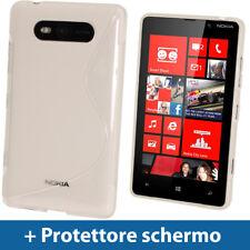 Chiaro Custodia Dual Tone TPU Gel per Nokia Lumia 820 Windows Cover Rigida