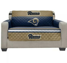 Los Angeles Rams NFL Love Seat Cover Furniture Protector Microfiber Stains Spill