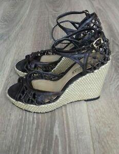 MORGAN DE TOI Brown Wedge Peep Toe Shoes Sandals Heels UK Size 3 EU 36 Summer