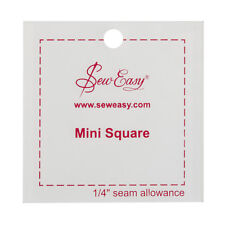 "SEW EASY MINI SQUARE TEMPLATE 2.5INCH SQUARE/ ""2.5 x 2.5"" PATCHWORK QUILTING BN"
