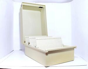 Han 955 Fichier Tischkarteikasten avec Couvercle Beige din A5 - #1