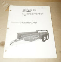 1985 Sperry New Holland Manure Spreader 791 Operator's Manual P/N 42079113