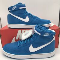 NIKE VANDAL HIGH SUPREME MEN'S SHOES SIZE  BLUE ORBIT WHITE 318330-400 NEW