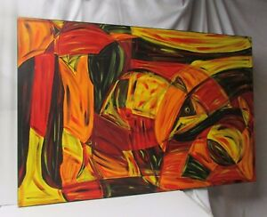 """Original Oil Painting on Canvas  """" Birds of a Feather""""  ~ 2001"""