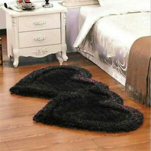 Black Modern Carpet Of  Polyester, 22 x 55 Inches For Home Decor, Pack of 1 Pc