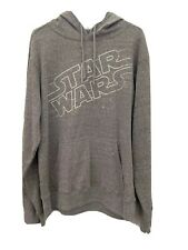 Disney Star Wars Hooded Sweatshirt Hoodie Gray Men's Size Medium NWT