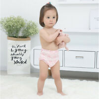2Pcs Baby Training Printed Pants Cotton Reusable Diaper Waterproof Cloth Nappies