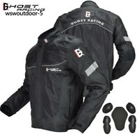 Motorcycle Jacket + Warm Layer Rain Waterproof Removable Armor Moto Riding Mens
