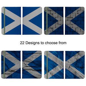 Scotland Scottish Flag Saltire Passport Holder Faux Leather Cover Case