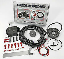 Electronic Ignition Kit Micro MK2 6V & 12V for Twin Cylinder BSA Norton Triumph