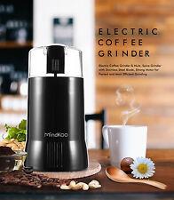 Mindkoo Electric Coffee Grinder Herbs Nuts Bean Spice Mill Grinder 200W 【US】