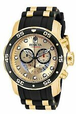 Invicta 17566 Pro Diver Stainless Steel 18k Gold Ion-Plated Men's Watch - Gold / Black