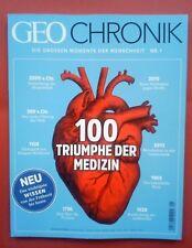 Geo CHRONIK Nr.1 Triumphe der Medizin, Das neue Magazin September 2017 ungelesen