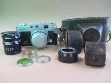 Camera, Petri rangefinder, 35 mm color corrected super 2.8, vintage