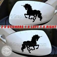 Unicorn Car Stickers, Wing Mirror Girly Car Graphic Decals - 16 Colours