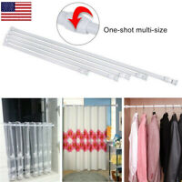 Extendable Telescopic Net Spring Loaded Voile Tension Curtain Rail Pole Rods OCC